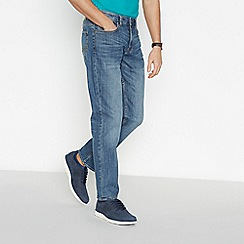 Maine New England - Blue Mid Stone Wash Straight Jeans