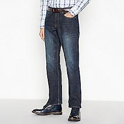 Maine New England - Dark Blue Vintage Wash Bootcut Fit Jeans