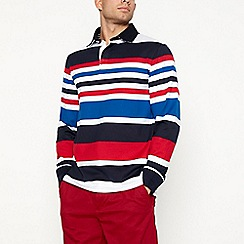 Maine New England - Big and tall red striped rugby top