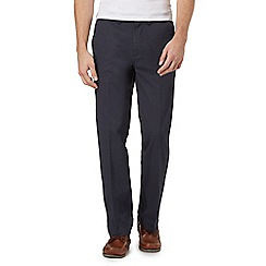 Maine New England - Big and Tall Navy Classic Cotton Chino Trousers