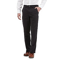 Maine New England - Black regular fit chino trousers