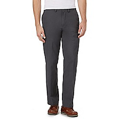 Maine New England - Big and Tall Dark Grey Cotton Chino Trousers