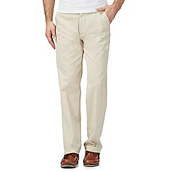 Maine New England - Natural flat front regular fit chinos