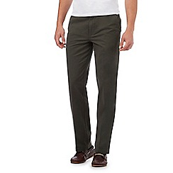 Maine New England - Big and Tall Olive Tailored Cotton Chinos