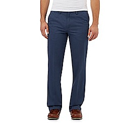 Maine New England - Big and Tall Mid Blue Tailored Cotton Chinos