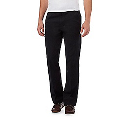 Maine New England - Big and Tall Black Tailored Cotton Chinos