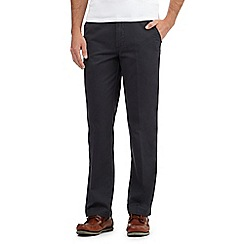 Maine New England - Big and tall dark grey tailored fit chinos