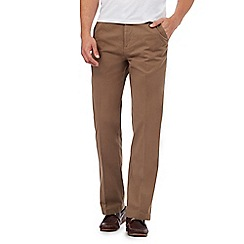 Maine New England - Big and tall light tan tailored chinos