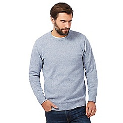 Maine New England - Big and tall pale blue twist crew neck jumper