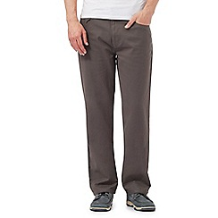 Maine New England - Big and tall grey Bedford trousers
