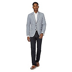 Maine New England - Big and tall light blue chambray blazer jacket
