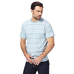 Maine New England - Big and tall light blue striped t-shirt