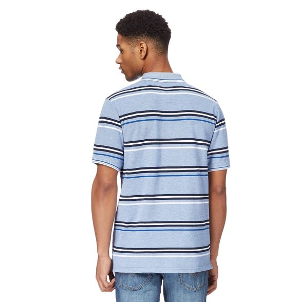 striped polo textured shirt print Maine New Blue England wCttvqA