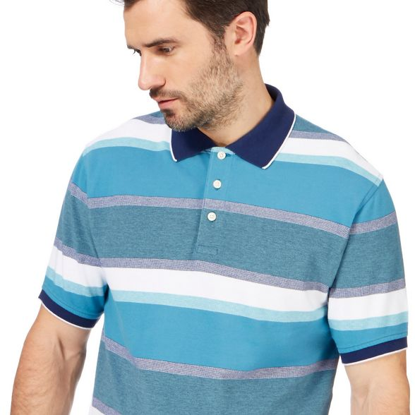 textured and tall polo blue England shirt New Big Maine striped w6qxgvfP