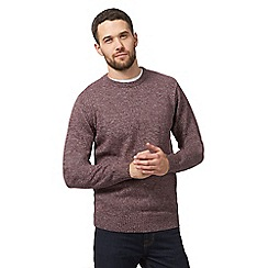 Maine New England - Big and tall dark red crew neck jumper