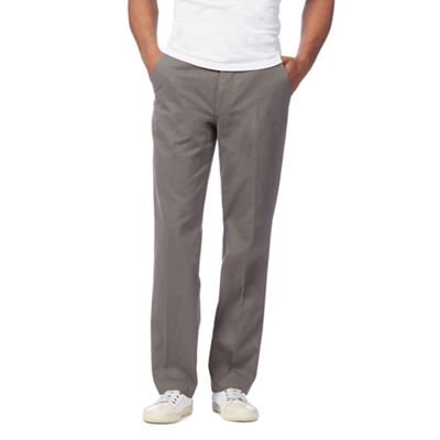 Maine New England   Grey Regular Fit Chinos by Maine New England