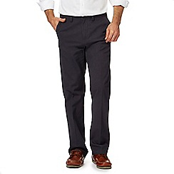 Maine New England - Big and tall navy regular fit chino trousers