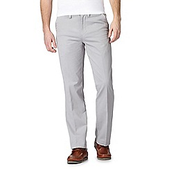 Maine New England - Pale grey regular fit chino trousers