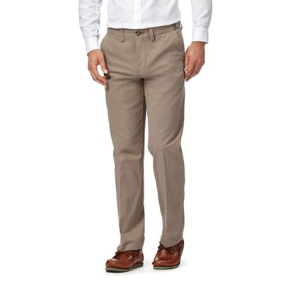 Maine New England   Cream Regular Fit Chino Trousers by Maine New England