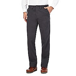 Maine New England - Dark grey regular chino trousers
