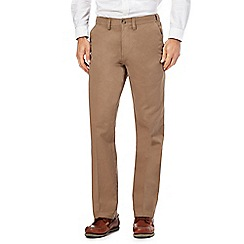 Maine New England - Big and tall tan regular fit chino trousers