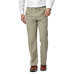Maine New England - Light olive green regular fit chino trousers