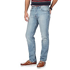 Maine New England - Big and tall light blue mid-wash straight leg jeans
