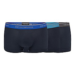 Emporio Armani - Pack of three navy trunks
