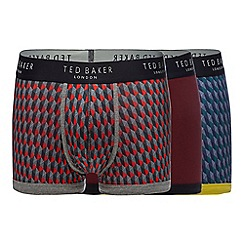 Ted Baker - Pack of three assorted geometric print trunks