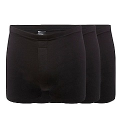 Debenhams - Big and tall pack of three black boxers