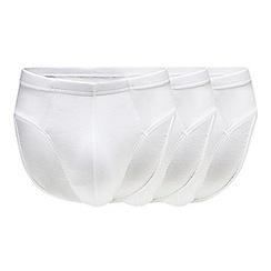 Debenhams - 3 pack white cotton slips
