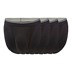 The Collection - Pack of four black tangas