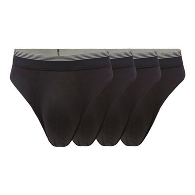 The Collection - Pack of four black thongs 232df88b5