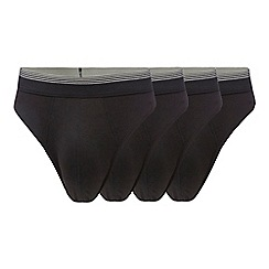The Collection - Pack of four black thongs