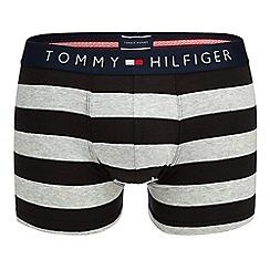 Tommy Hilfiger - Black rugby stripe trunks