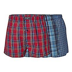 Mantaray - Pack of three checked print boxers