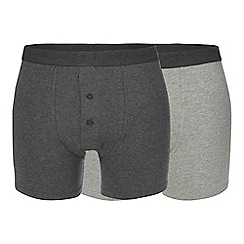 RJR.John Rocha - Pack of two grey logo waistband boxers