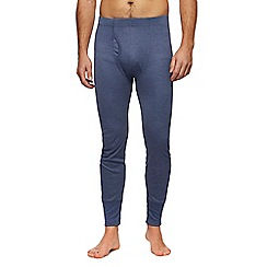 Maine New England - Big and tall blue long thermal bottoms