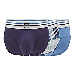 Jockey - 3 pack assorted plain and checked briefs