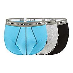 Sloggi - 3 pack multi-coloured midi briefs