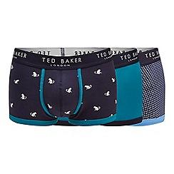 Ted Baker - 3 pack navy printed trunks