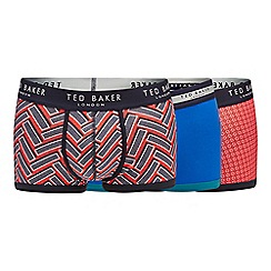 Ted Baker - 3 pack red printed trunks