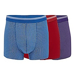 The Collection - Pack of three assorted plain and printed hipster trunks