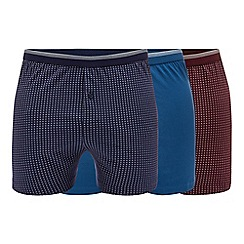 The Collection - Big and tall 3 pack assorted plain and patterned button boxers