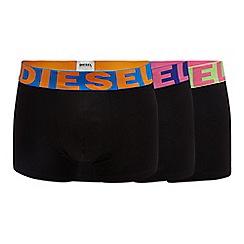 Diesel - 3 pack black boxer trunks