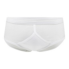 Debenhams - Pack of three white briefs
