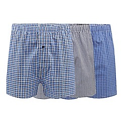 The Collection - Big and tall pack of three assorted checked boxers