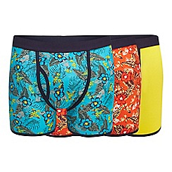 Mantaray - Pack of three assorted plain and printed keyhole trunks