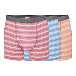 Mantaray - Big and tall pack of three assorted striped hipster trunks