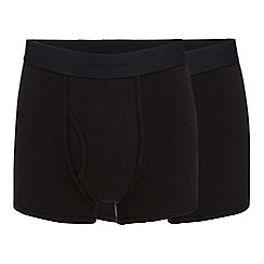 J by Jasper Conran - Big and tall pack of two black modal blend trunks